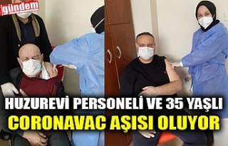 HUZUREVİ PERSONELİ VE 35 YAŞLI CORONAVAC AŞISI...