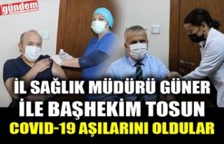 İL SAĞLIK MÜDÜRÜ GÜNER İLE BAŞHEKİM TOSUN...