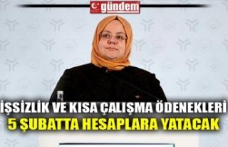 İŞSİZLİK VE KISA ÇALIŞMA ÖDENEKLERİ 5 ŞUBATTA...