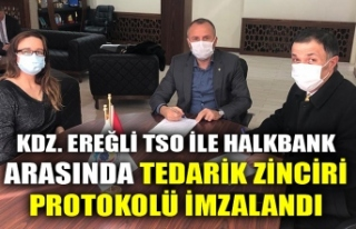 KDZ. EREĞLİ TSO İLE HALKBANK ARASINDA TEDARİK...
