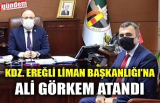 KDZ. EREĞLİ LİMAN BAŞKANLIĞI'NA ALİ GÖRKEM...