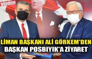 LİMAN BAŞKANI ALİ GÖRKEM'DEN BAŞKAN POSBIYIK'A...
