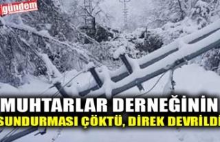 MUHTARLAR DERNEĞİNİN SUNDURMASI ÇÖKTÜ, DİREK...