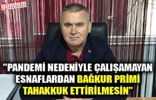 """""""PANDEMİ NEDENİYLE ÇALIŞAMAYAN ESNAFLARDAN..."""