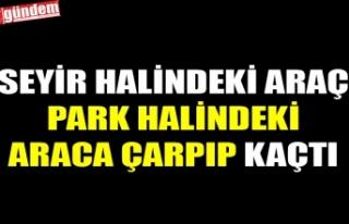 SEYİR HALİNDEKİ ARAÇ PARK HALİNDEKİ ARACA ÇARPIP...