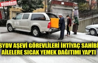 SYDV AŞEVİ GÖREVLİLERİ İHTİYAÇ SAHİBİ AİLELERE...