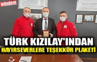 TÜRK KIZILAY'INDAN HAYIRSEVERLERE TEŞEKKÜR...