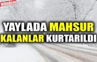 YAYLADA MAHSUR KALANLAR KURTARILDI