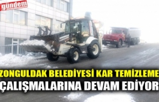 ZONGULDAK BELEDİYESİ KAR TEMİZLEME ÇALIŞMALARINA...