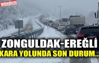 ZONGULDAK-EREĞLİ KARAYOLUNDA SON DURUM...