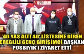 '40 YAŞ ALTI 40' LİSTESİNE GİREN EREĞLİLİ...