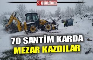 70 SANTİM KARDA MEZAR KAZDILAR