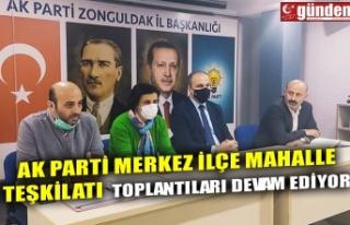 AK PARTİ MERKEZ İLÇE TEŞKİLATI MAHALLE TOPLANTILARINA...