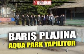 BARIŞ PLAJINA AQUA PARK YAPILIYOR