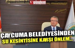 ÇAYCUMA BELEDİYESİNDEN SU KESİNTİSİNE KARŞI...