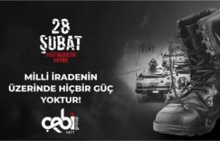 ÇEBİ GRUP'TAN 28 ŞUBAT MESAJI