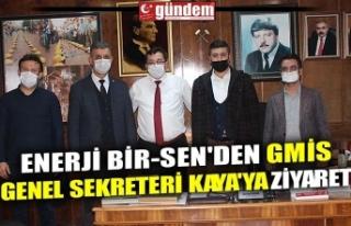 ENERJİ BİR-SEN'DEN GMİS GENEL SEKRETERİ KAYA'YA...