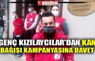 GENÇ KIZILAYCILAR'DAN KAN BAĞIŞI KAMPANYASINA...