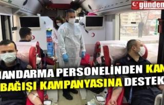 JANDARMA PERSONELİNDEN KAN BAĞIŞI KAMPANYASINA...