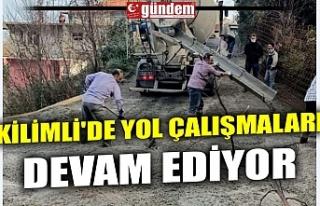 KİLİMLİ'DE YOL ÇALIŞMALARI DEVAM EDİYOR
