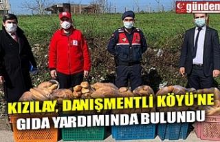 KIZILAY, DANIŞMENTLİ KÖYÜ'NE GIDA YARDIMINDA...