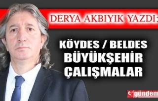 KÖYDES / BELDES/ BÜYÜKŞEHİR/ ÇALIŞMALAR