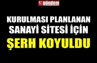 KURULMASI PLANLANAN SANAYİ SİTESİ İÇİN ŞERH...