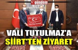 VALİ TUTULMAZ'A SİİRT'TEN ZİYARET