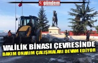 VALİLİK BİNASI ÇEVRESİNDE BAKIM ONARIM ÇALIŞMALARI...