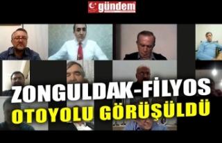 ZONGULDAK-FİLYOS OTOYOLU GÖRÜŞÜLDÜ
