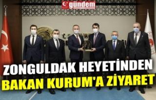 ZONGULDAK HEYETİNDEN BAKAN KURUM'A ZİYARET