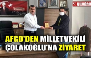 AFGD'DEN MİLLETVEKİLİ ÇOLAKOĞLU'NA...