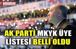 AK PARTİ MKYK ÜYE LİSTESİ BELLİ OLDU