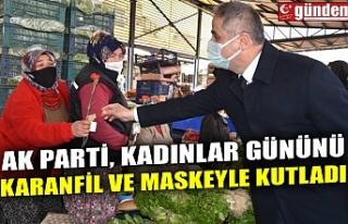 AK PARTİ, KADINLAR GÜNÜNÜ KARANFİL VE MASKEYLE...