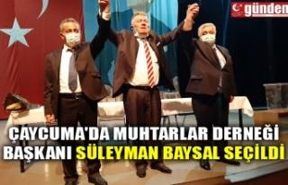 ÇAYCUMA'DA MUHTARLAR DERNEĞİ BAŞKANI SÜLEYMAN...