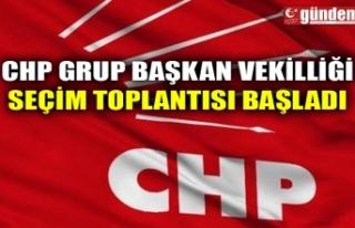 CHP GRUP BAŞKAN VEKİLLİĞİ SEÇİM TOPLANTISI...
