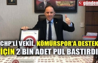 CHP'Lİ VEKİL, KÖMÜRSPOR'A DESTEK İÇİN...