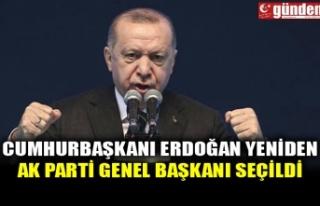 CUMHURBAŞKANI ERDOĞAN YENİDEN AK PARTİ GENEL BAŞKANI...