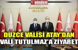 DÜZCE VALİSİ ATAY'DAN VALİ TUTULMAZ'A...