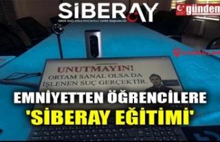 EMNİYETTEN ÖĞRENCİLERE 'SİBERAY EĞİTİMİ'