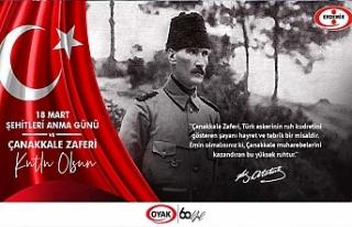 ERDEMİR 18 MART ŞEHİTLERİNİ ANDI, ÇANAKKALE...
