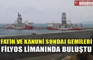 FATİH VE KANUNİ SONDAJ GEMİLERİ FİLYOS LİMANINDA...