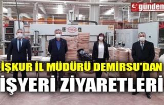 İŞKUR İL MÜDÜRÜ DEMİRSU'DAN İŞYERİ...