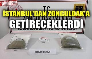İSTANBUL'DAN ZONGULDAK'A GETİRECEKLERDİ