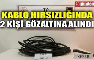 KABLO HIRSIZLIĞINDA 2 KİŞİ GÖZALTINA ALINDI