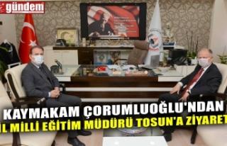 KAYMAKAM ÇORUMLUOĞLU'NDAN İL MİLLİ EĞİTİM...