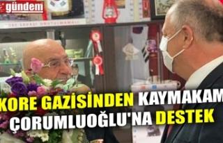 KORE GAZİSİNDEN KAYMAKAM ÇORUMLUOĞLU'NA DESTEK
