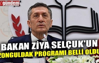 BAKAN ZİYA SELÇUK'UN ZONGULDAK PROGRAMI BELLİ...