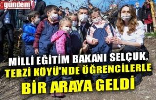 MİLLİ EĞİTİM BAKANI SELÇUK, TERZİ KÖYÜ'NDE...