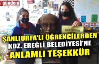 ŞANLIURFA'LI ÖĞRENCİLERDEN KDZ. EREĞLİ...